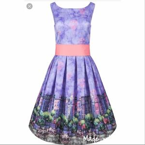 Lindy Bop Imelda Balloon dress, US 4 NWT